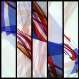 Abstrakte Fahne für Ihr Design. Stockfoto