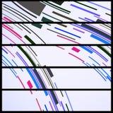 Abstrakte Fahne für Ihr Design Stockbild