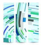Abstrakte Fahne für Ihren Entwurf Stockbild