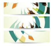 Abstrakte Fahne für Ihren Entwurf, buntes digitales Lizenzfreie Stockfotos