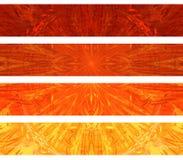 Abstrakte Fahnen stock abbildung