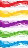 Abstrakte Fahnen für Web-Vorsatz Stockbilder