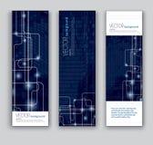 Abstrakte Fahnen. Hintergründe des VektorEps10. Stockfoto