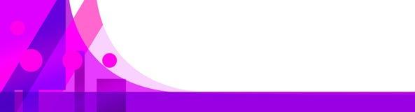 Abstrakte Fahnenschablone Lizenzfreies Stockbild