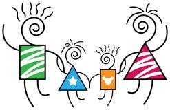 Abstrakte Familie Lizenzfreies Stockfoto