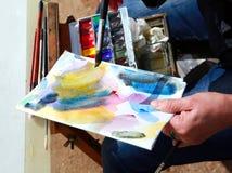 Abstrakte Farbe der Kunst Lizenzfreies Stockfoto