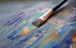 Abstrakte Farbe der Kunst mit Acrylfarben Stockfoto