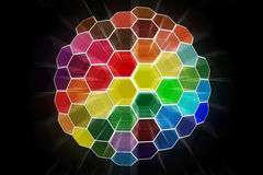Abstrakte Farbe glänzte Kugel Stock Abbildung