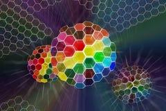 Abstrakte Farbe glänzte Kugel Vektor Abbildung