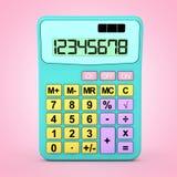 Abstrakte Farbe Toy Calculator Icon Wiedergabe 3d Stockbild