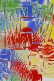 Abstrakte Farben u. Glas Lizenzfreies Stockbild
