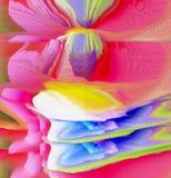 Abstrakte Farbenauslegung Abstrakte Grafiken stockbild