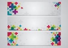 Abstrakte Farbenfahne Stockfotografie