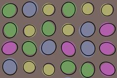 Abstrakte Farbenillustrationskunst Stockbilder