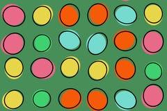 Abstrakte Farbenillustrationskunst Stockfotografie