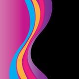 Abstrakte Farbenkurven Lizenzfreie Stockfotos