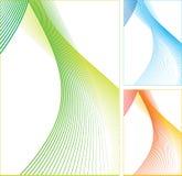 Abstrakte Farbenzeilen. Stockfotografie