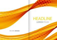 Abstrakte Farbenzeilen Hintergrund Schablonenbroschüre Lizenzfreies Stockfoto