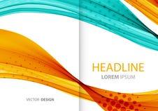 Abstrakte Farbenzeilen Hintergrund Schablonenbroschüre Lizenzfreies Stockbild