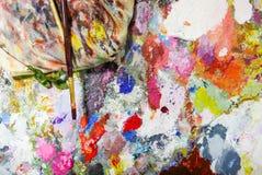 Abstrakte Farbepaletten-Acrylölfarbe Abstrakte Kunst Paintin Stockfoto
