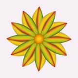 Abstrakte Farbmaschenblume Lizenzfreies Stockbild