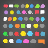 Abstrakte Farbsprachewolken Lizenzfreies Stockbild