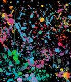 Abstrakte Farbspritzen-Hintergrundillustration Lizenzfreie Stockfotografie