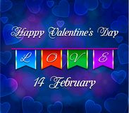 Abstrakte Feiertage Valentinsgrußkarte, Liebesthema Stockbild