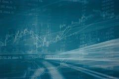 Abstrakte Finanzaktienkurve und Stadtbild in der Doppelbelichtung reden Hintergrund an Lizenzfreies Stockfoto