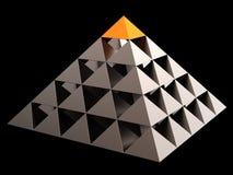 Abstrakte Finanzpyramide (Mieten) Lizenzfreie Stockbilder