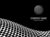 Abstrakte Firmaseite. Stockfoto