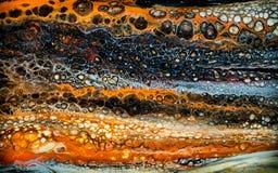 Abstrakte flüssige Malerei mit Zellen stockfotografie