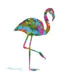 Abstrakte Flamingos Lizenzfreies Stockbild