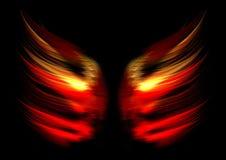 Abstrakte Flammeflügel Stockbild