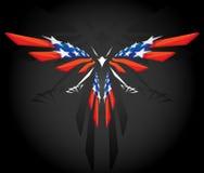 Abstrakte Flugwesen amerikanische Flagge stock abbildung