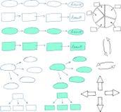 Abstrakte Flussdiagrammgestaltungselemente Stockbild