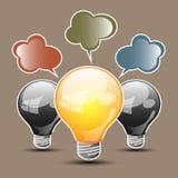 Abstrakte Form einer Glühlampe Lizenzfreie Stockfotos