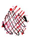 Abstrakte Form gebildet von der flüssigen Schokolade und vom strawb Lizenzfreie Stockfotografie