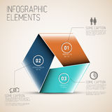 Abstrakte Form mit Infographic Stockfotografie