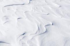 Abstrakte Formen auf dem Schnee, Florina, Griechenland Stockbilder