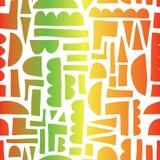 Abstrakte Formen, die Reggae nahtloses Vektormusterpapier färbt, schnitten Collagenart heraus vektor abbildung