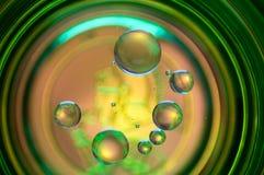 Abstrakte Fotografie unter Verwendung der Mischung des Öls und des Wassers Schließen Sie herauf abstrakte Fotografie Lizenzfreies Stockfoto