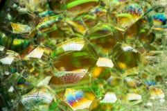 Abstrakte Fotografie unter Verwendung der Mischung der Seife und des Wassers Herstellung von Blasen Schließen Sie herauf abstrakt Lizenzfreie Stockbilder