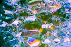 Abstrakte Fotografie unter Verwendung der Mischung der Seife und des Wassers Herstellung von Blasen Schließen Sie herauf abstrakt Stockbild