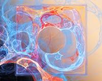 Abstrakte Fractal-Auslegung Quadrat und Kreis stockfoto