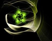 Abstrakte Fractal-Blume Stockfoto