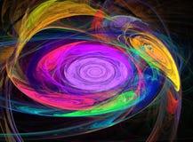 Abstrakte Fractalmuster wie Strudel von Farben Stockfotografie