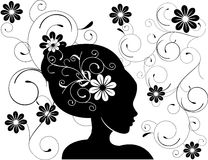 Abstrakte Frauenliebe blüht Abbildung   Lizenzfreies Stockfoto