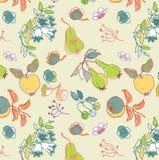 Abstrakte Frucht und Blumen Stockbild