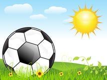 Abstrakte Fußballhintergrundauslegung Stockbilder
